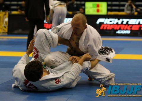 James competing with Jiu Jitsu